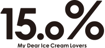 15.0% My Dear Ice Cream Lovers